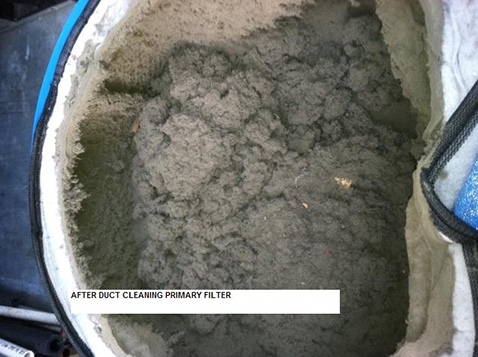 (6B) PRIMARY FILTER AFTER DUCT CLEANING